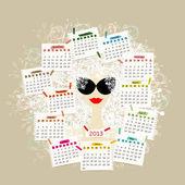 Fotografie Woman portrait, calendar 2013 concept for your design