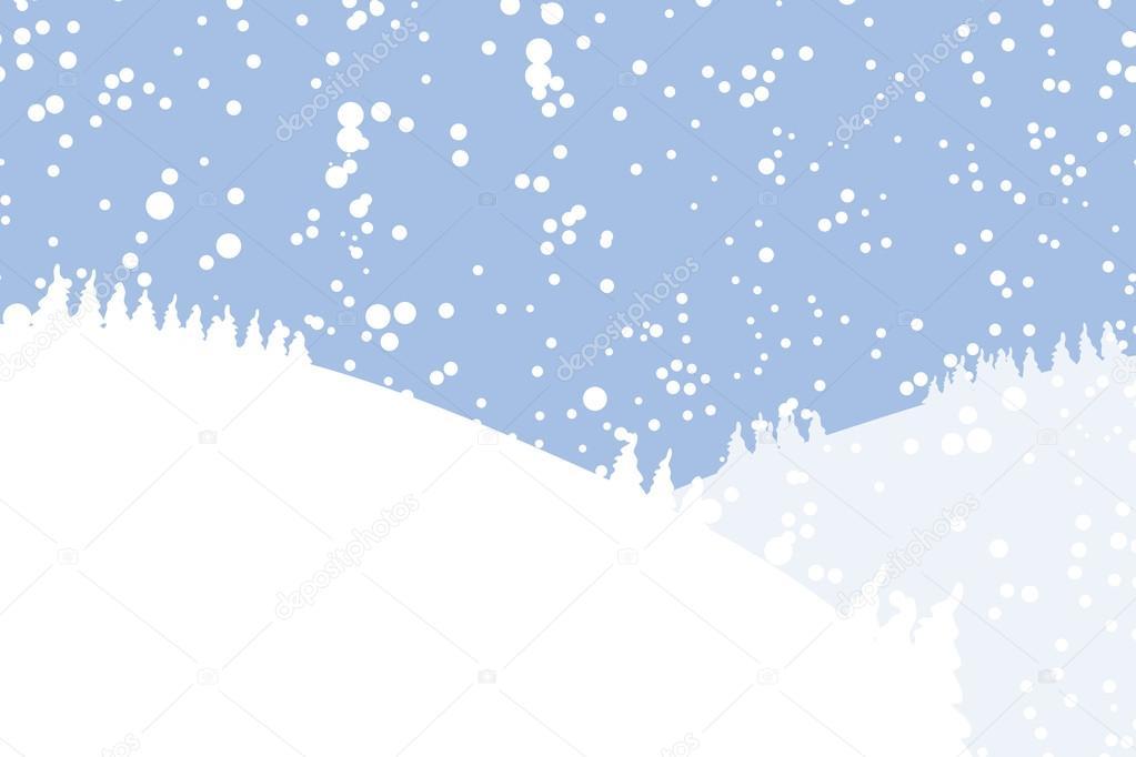 Paesaggio invernale per il vostro disegno vettoriali for Disegno paesaggio invernale