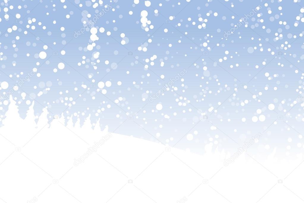 Winter landscape for your design
