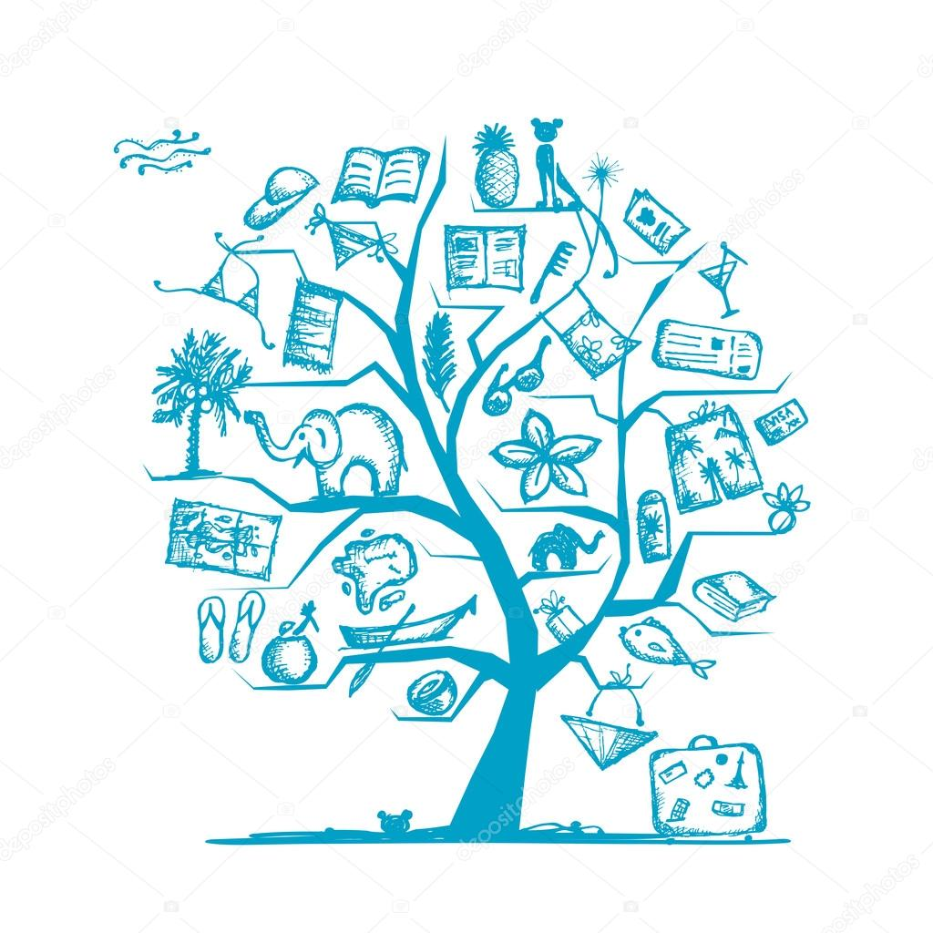 Travel tree concept for your design