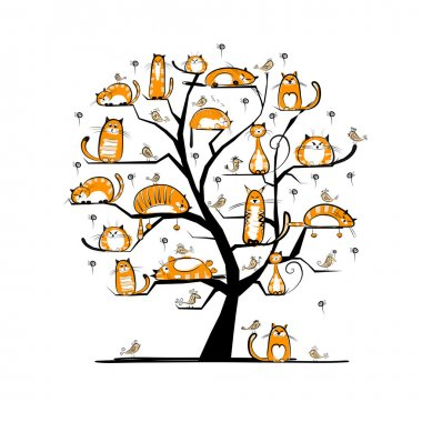 Сat family tree for your design