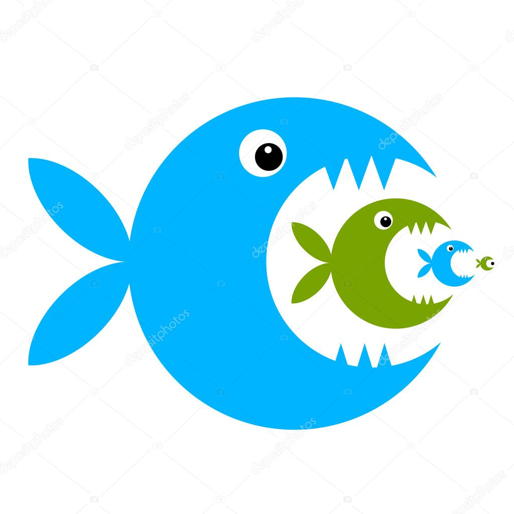 Funny fish cartoon for your design