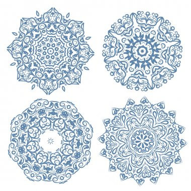 Set of arabesque ornament for your design stock vector