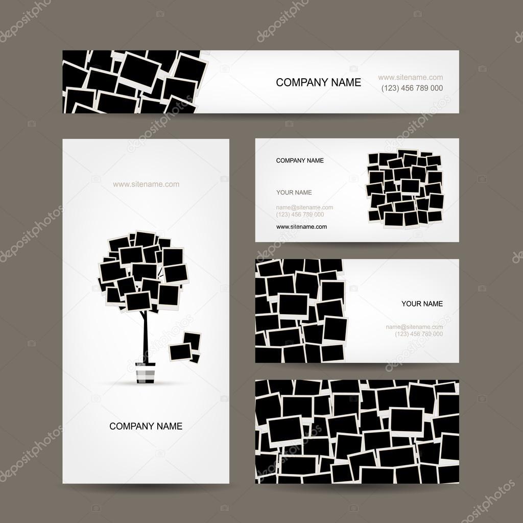 Visitenkarten Design Bilderrahmen Stockvektor