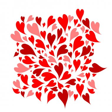 Red hearts background for your design clip art vector