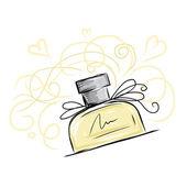 Fotografie Sketch of perfume bottle for your design