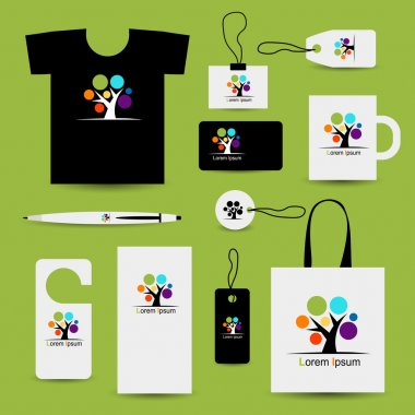 Corporate business style design with art tree