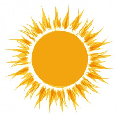 Abstract sun shape for your design stock vector