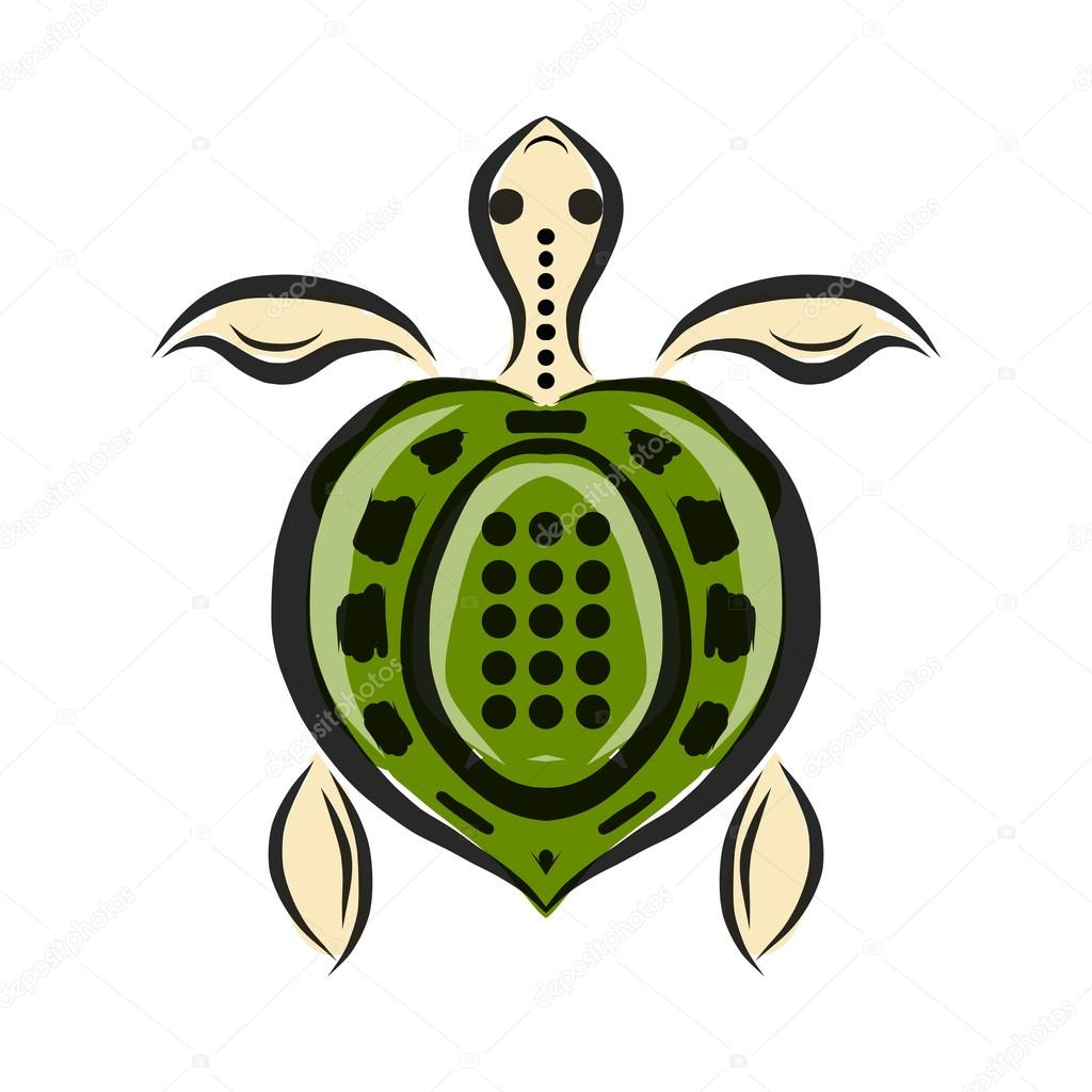 Funny sketch of tortoise for your design
