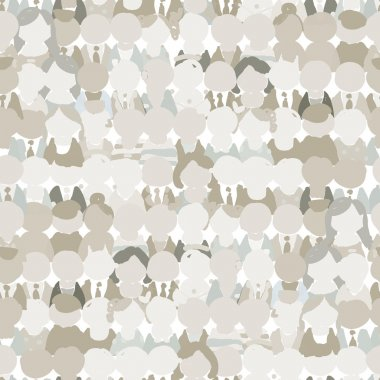 Abstract crowd of peoples, seamless pattern for your design