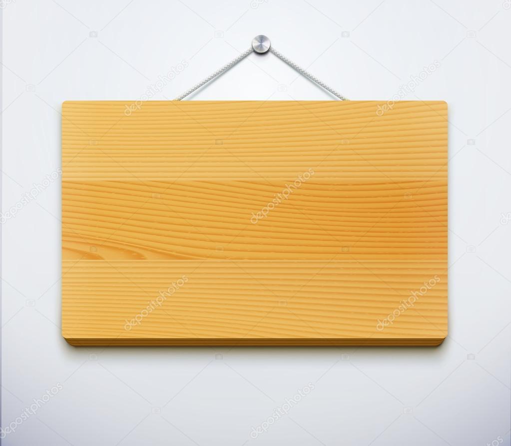 Placa de madera vector de stock 15683741 depositphotos - Placa de madera ...