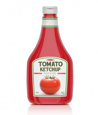 Vector illustration of ketchup bottle isolated on white background stock vector