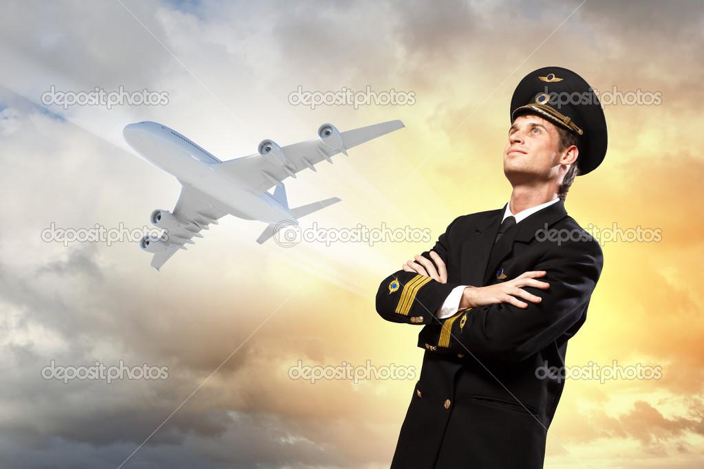 Männlicher Pilot