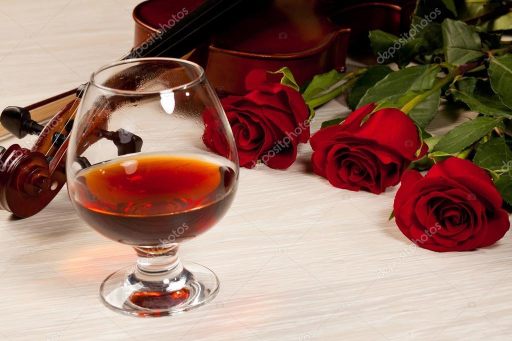 Аву, розы и коньяк открытки