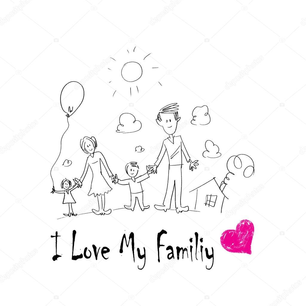 Einzigartig ich liebe meine Familie — Stockfoto © SergeyNivens #41795835 FP05