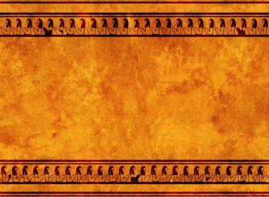 "Картина, постер, плакат, фотообои ""египетская традиция фрески"", артикул 12425179"