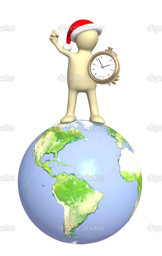 3d Le Rendu D Un Homme Avec Globe Photographie Frenta C 12750615