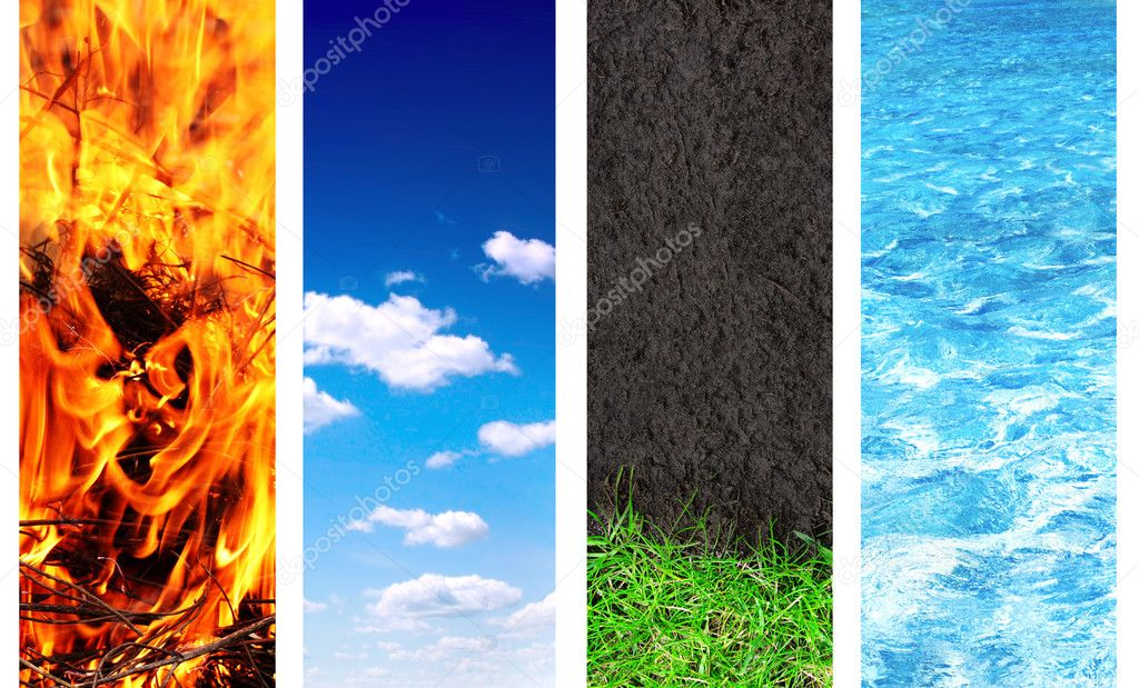 Set of banner with nature elements