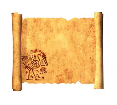 Scroll of old parchment. Object on white background stock vector
