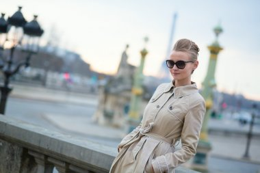 Young Parisian woman in the sunglasses