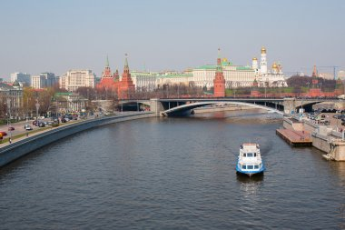 View of the Moscow Kremlin over the Moscow river