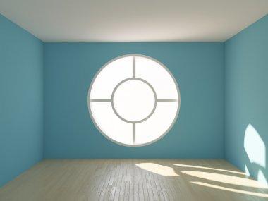 Modern interior design with window stock vector