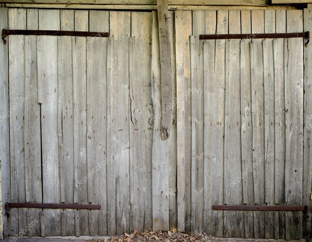 old wooden barn door stock photo shenki 13110986. Black Bedroom Furniture Sets. Home Design Ideas