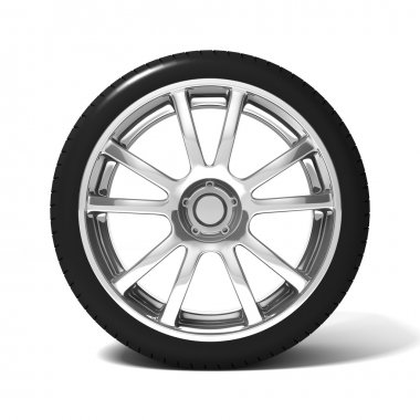 Car wheel with tire