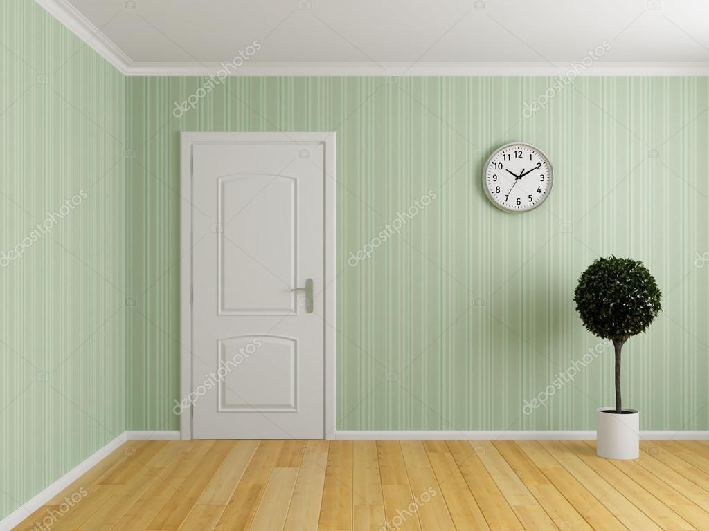 Stock Room Doors : Empty interior room with door — stock photo shenki