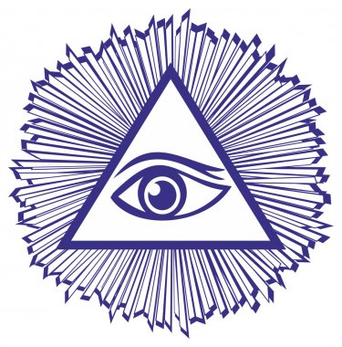Eye Of Providence or All Seeing Eye Of God - famous mason symbol