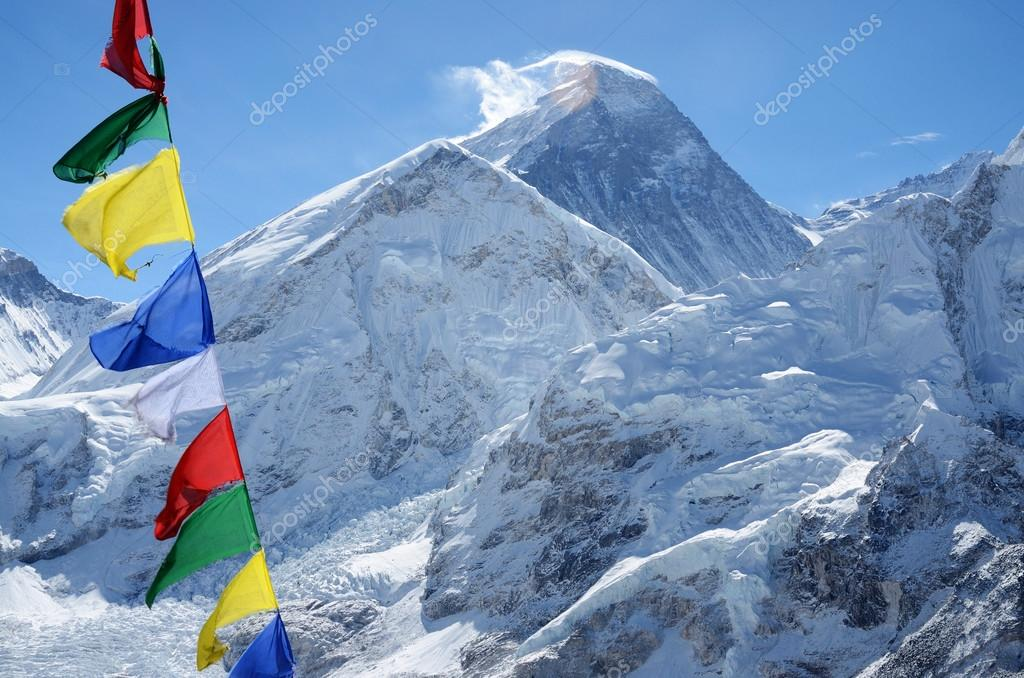 Summit of mount Everest or Chomolungma, view from Kala Patthar,Nepal,Himalayas