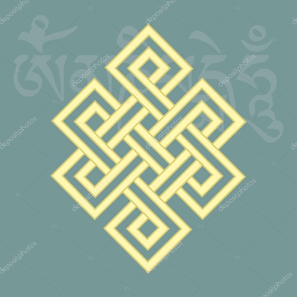 Endless knot,one of eight auspicious buddhist religious symbols