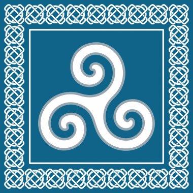 Old triskelion symbol, element typical for celtic ethnic design -  vector illustration