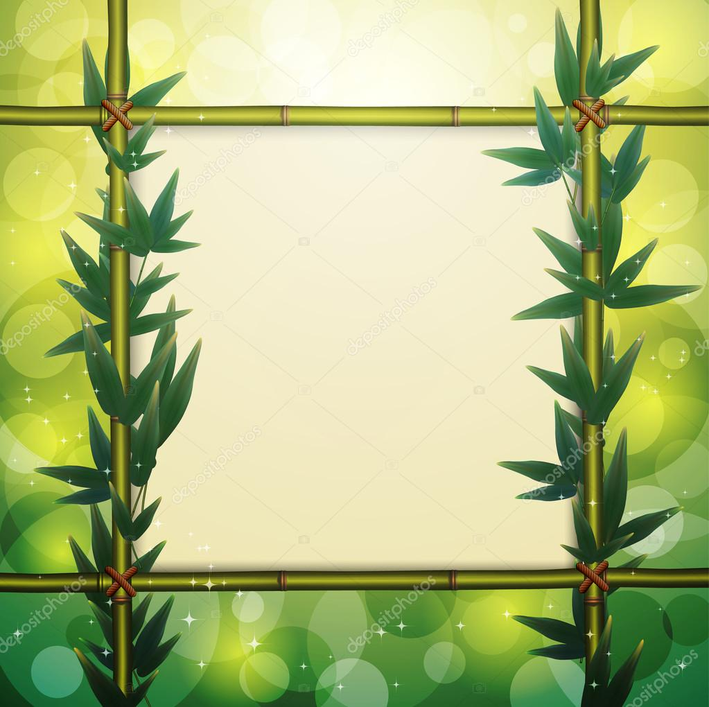 Glowing bamboo background, vector illustration