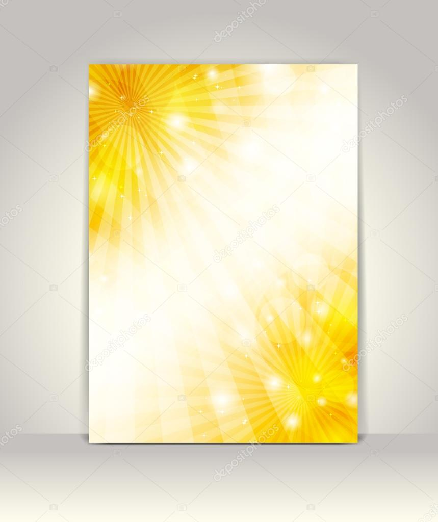 Business brochure design template, Party Background with glowing