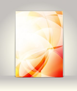 Flyer or brochure template, abstract technology design