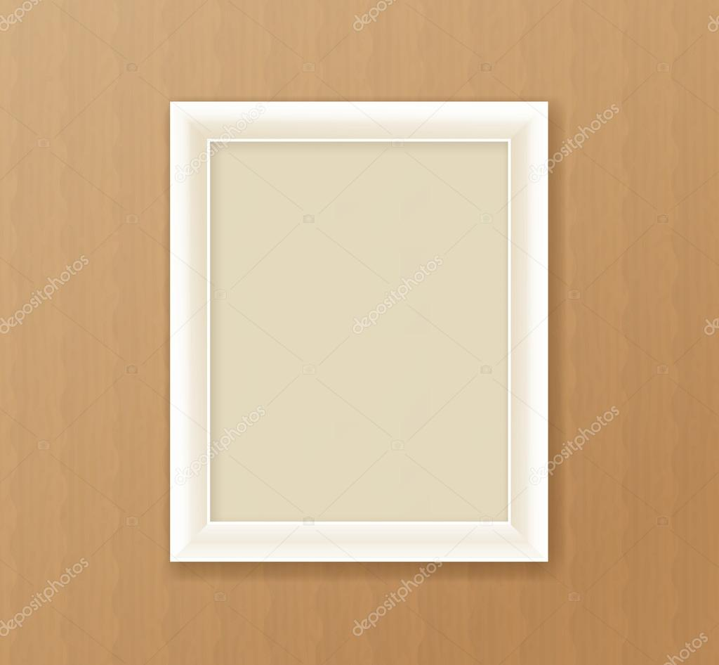 Paper frame on the cardboard background — Stock Vector © d_arts ...