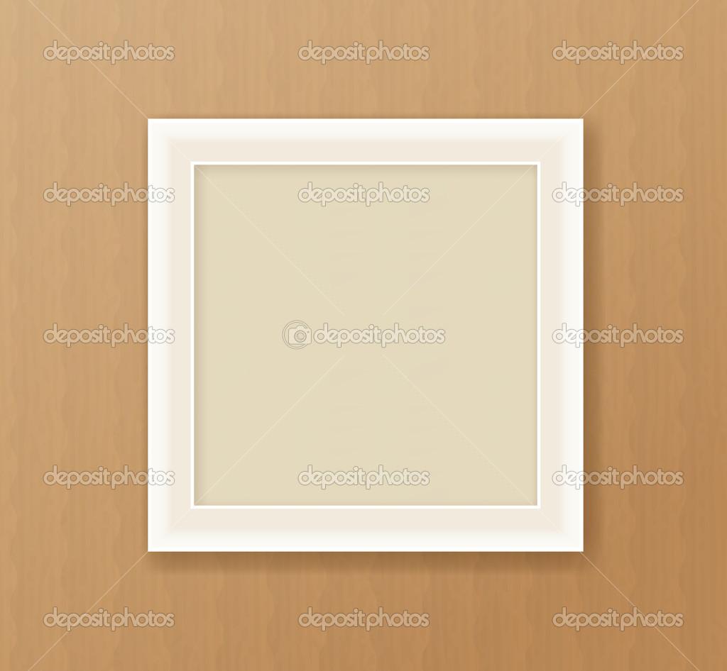Papier Rahmen auf dem Karton Hintergrund — Stockvektor © d_arts ...