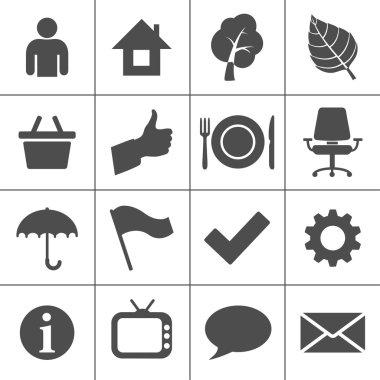 Web icons set - Simplus series