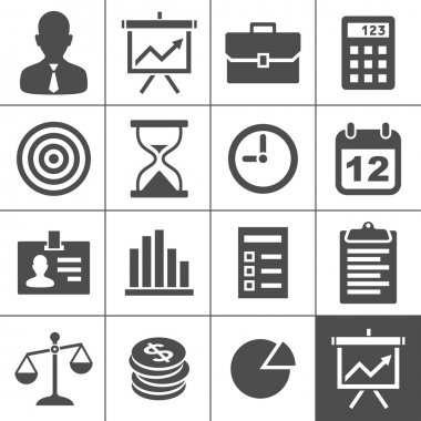 Business Icons. Vector illustration. Simplus series clip art vector