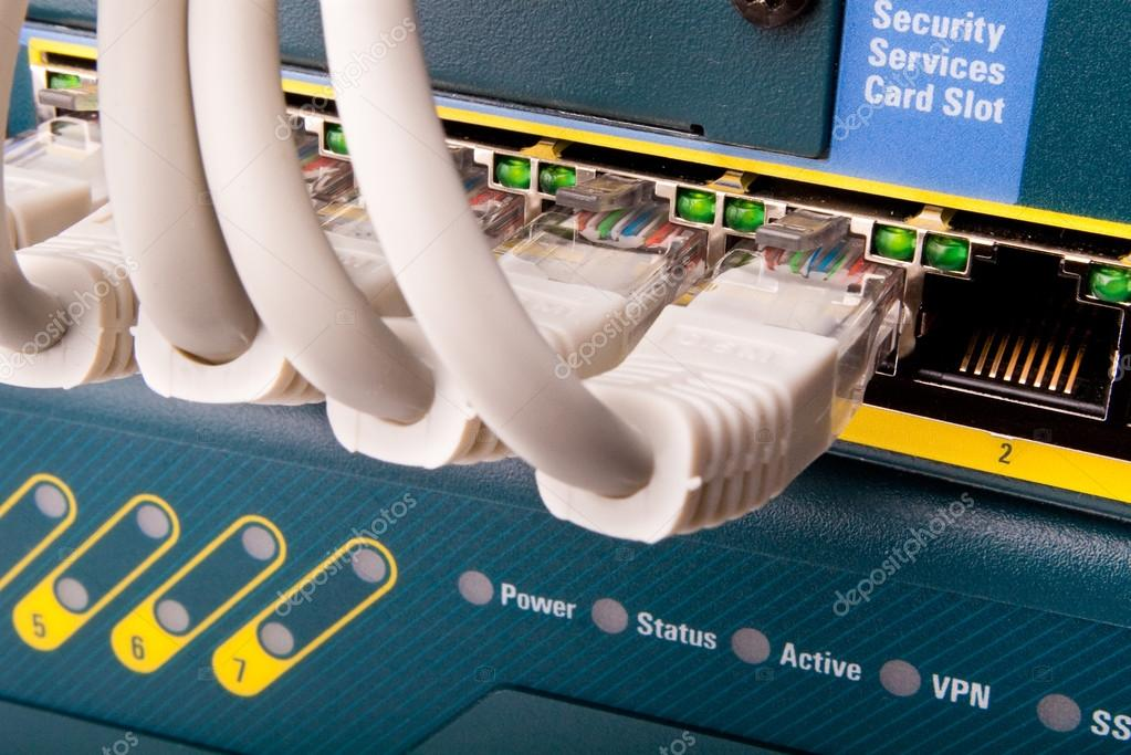Network switch and patch cables