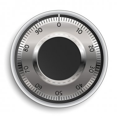 Combination Lock. Combination Safe Lock. Vector Illustration.
