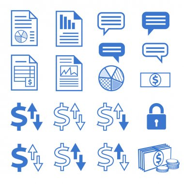 Vector icon set for business website
