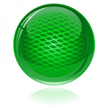 Green glossy abstract sphere. Only simple gradient used.