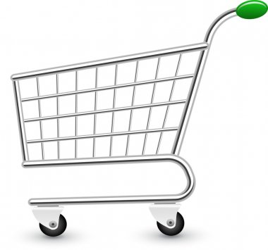 Vector illustration of empty shopping cart