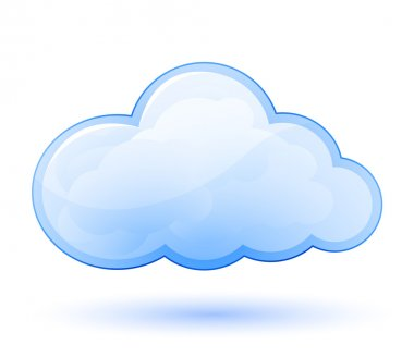 Cloud glossy icon. Vector illustration stock vector