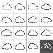 Fotografie Cloud shapes collection