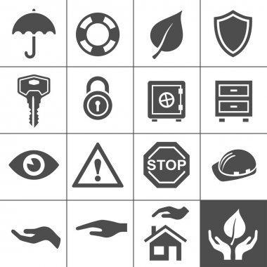 Protection icons. Simplus series