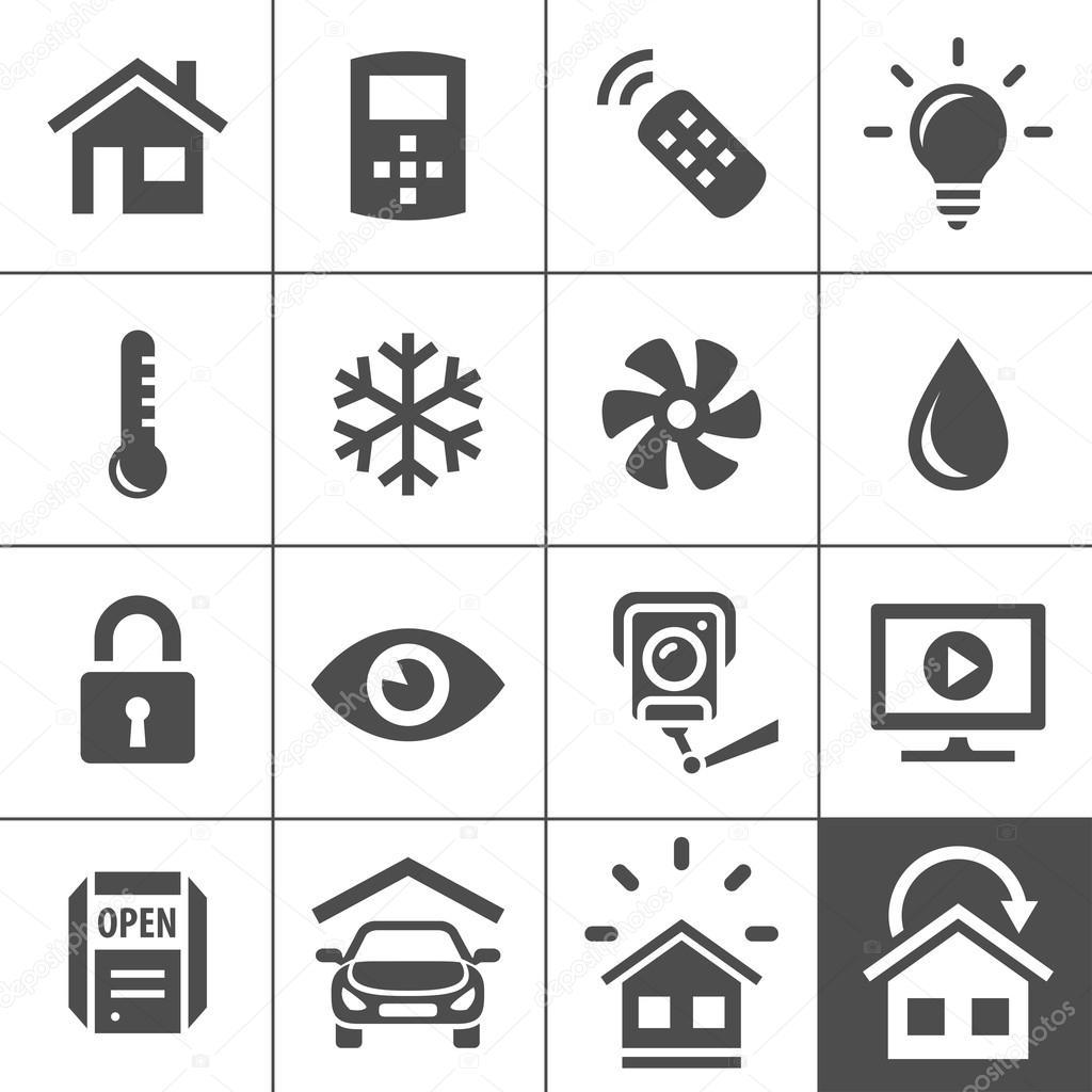Ikony systemów sterowania automatyki domowej — Grafika ... Home Automation System Icon
