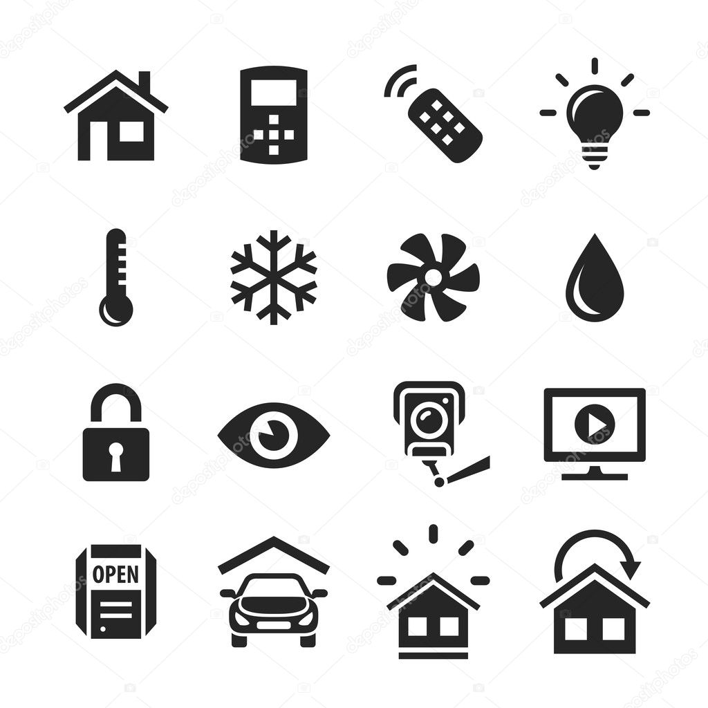 Home Automation Control Systems Icons
